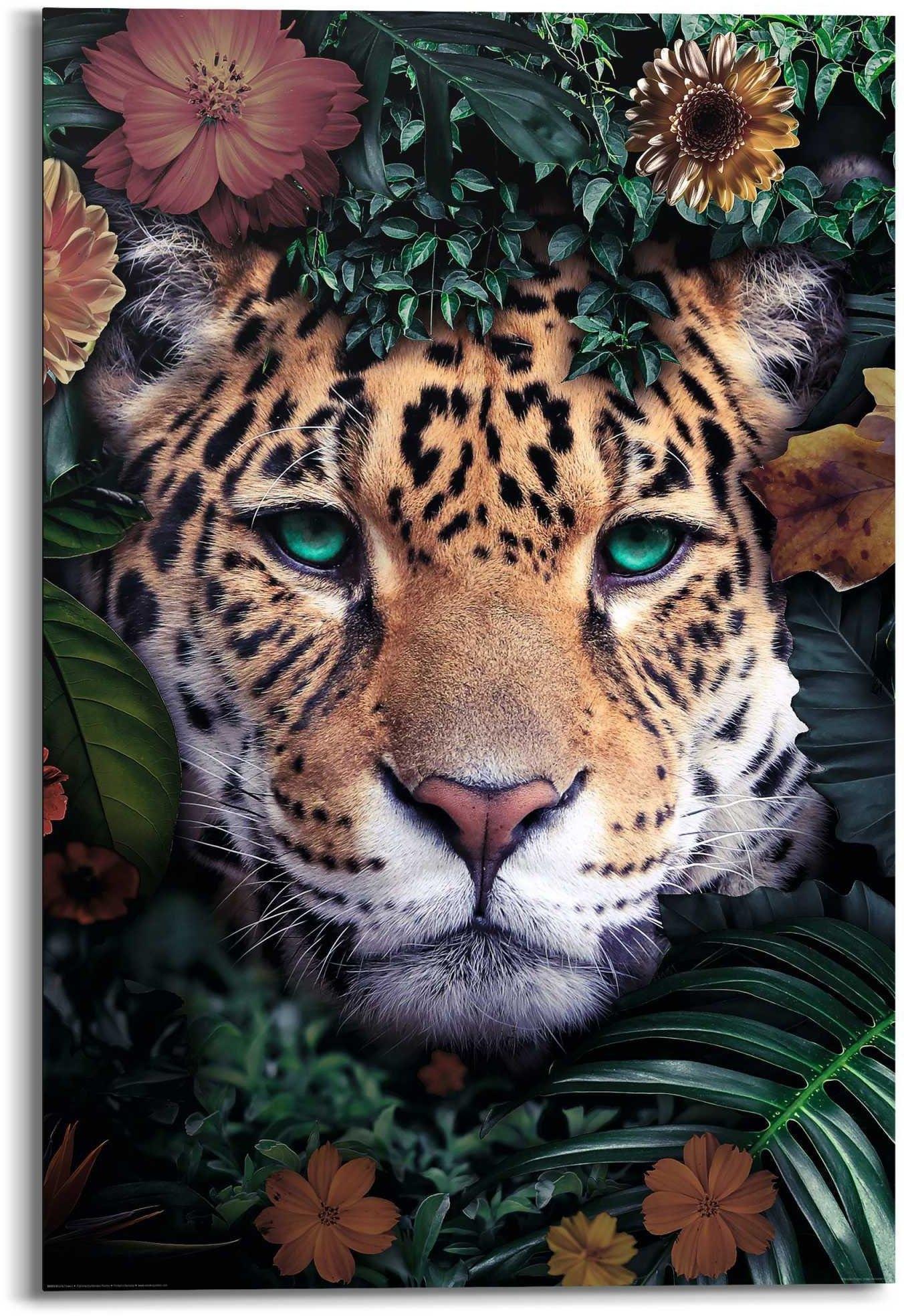 Reinders! artprint luipaard bloemenkrans - Jungle - in vrolijke kleuren (1 stuk) nu online bestellen