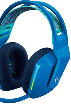 logitech games hoofdtelefoon g733 lightspeed wireless rgb gaming-headset blauw