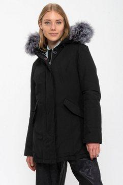 canadian classics parka fundy bay winterjack met premium beleg van imitatiebont zwart