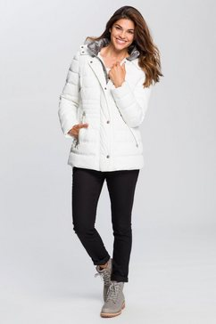gil bret gewatteerde jas wit