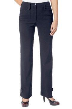 alessa w. broek in trendy wijd model blauw