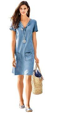 classic inspirationen jurk in jeans-look blauw