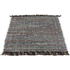 andiamo vloerkleed frida vloerkleed in patchwork-stijl, puur katoen, met de hand geweven, met franje, woonkamer bruin