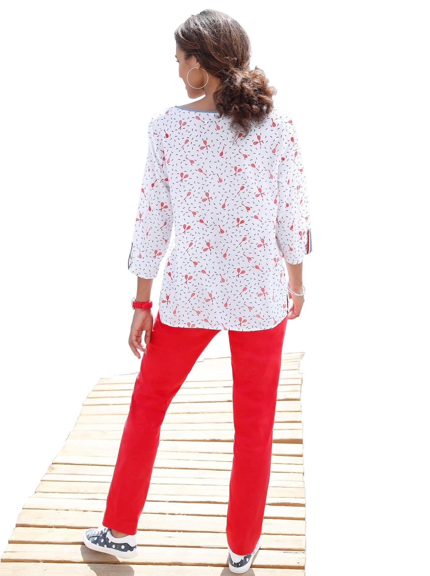 Casual Looks blouse met pittig tennisracketdessin goedkoop op otto.nl kopen