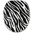 sanilo toiletzitting zebra look met soft-closemechanisme zwart