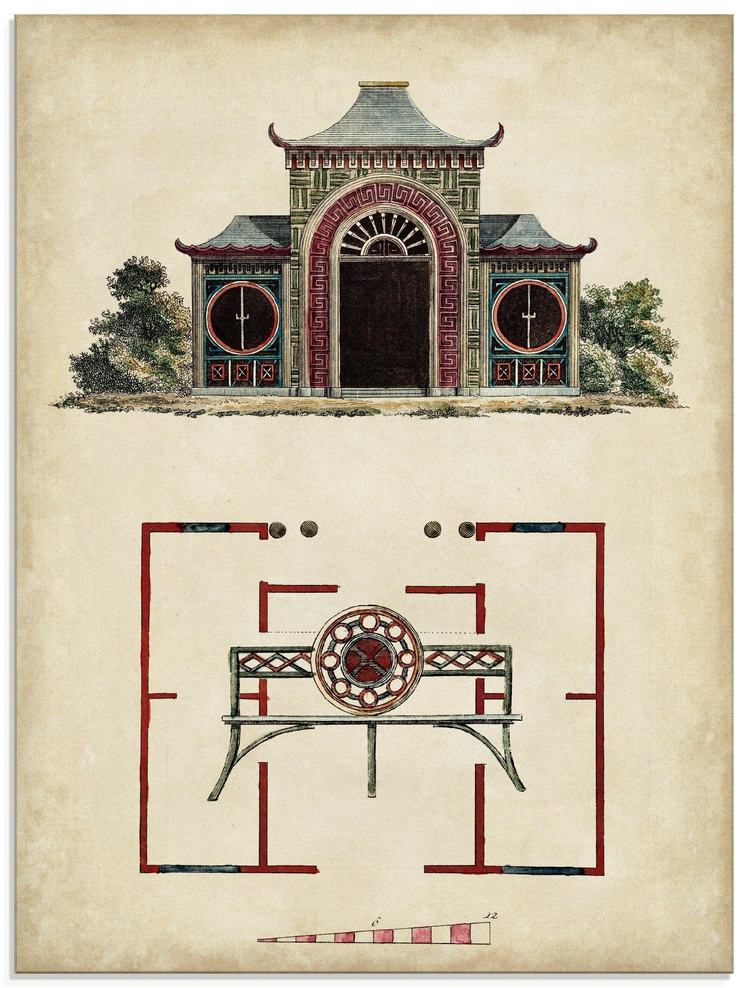 Artland print op glas Tuinpoortjes IV (1 stuk) online kopen op otto.nl