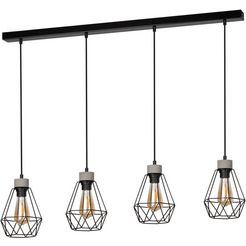 home affaire hanglamp hartington moderne loft-look, met echt beton, bijpassende lm e27-exclusief, duurzaam gemaakt in europa zwart