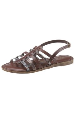 tamaris romeinse sandalen isla met fijne riempjes bruin