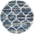 myflair moebel  accessoires vloerkleed top shag blauw