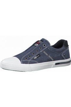 s.oliver sneakers in modieuze jeans-look blauw