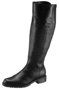 gabor laarzen met wijde schacht genua in ruiterlaarzen-look zwart