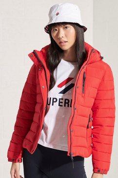 superdry gewatteerde jas »classic fuji jacket« rood