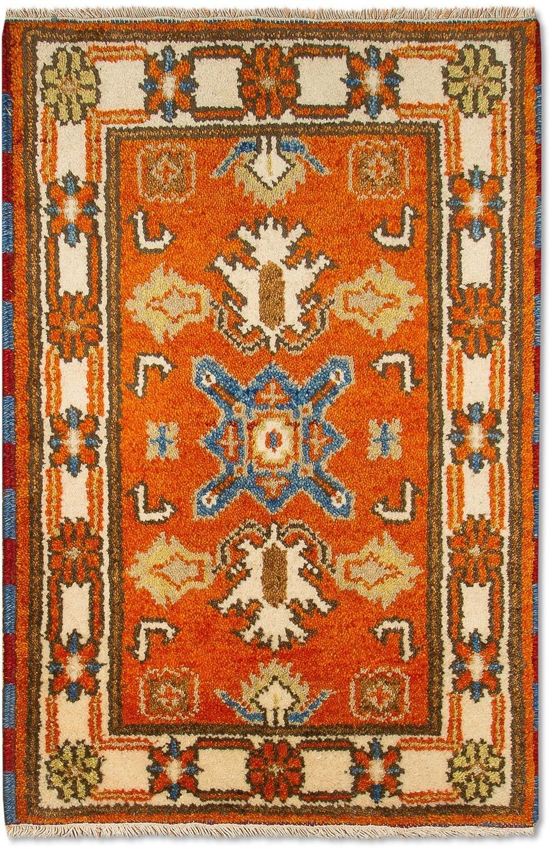 morgenland wollen kleed Kazak Teppich handgeknüpft orange - gratis ruilen op otto.nl