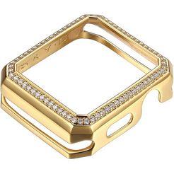 sky•b smartwatch-afdekking deco halo, w003g44, 44 mm goud