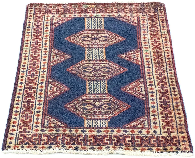 Op zoek naar een morgenland wollen kleed Turkaman vloerkleed met de hand geknoopt blauw? Koop online bij OTTO