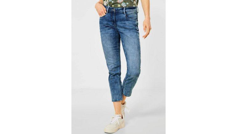 Cecil 7/8 jeans Charlize met contrastkleurige naden
