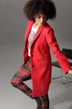 aniston casual korte jas met reverskraag rood