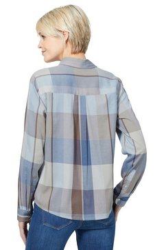 casual looks geruite blouse blauw