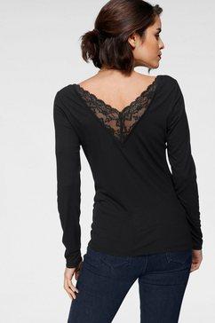 tamaris shirt met lange mouwen zwart
