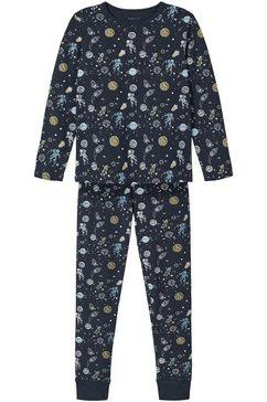 name it pyjama sky and stars (set, 2-delig) blauw