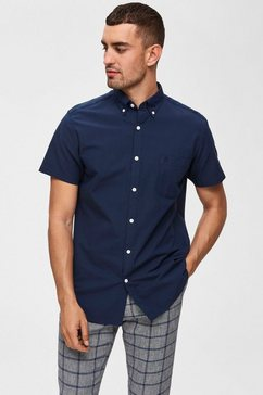 selected homme overhemd met korte mouwen »reg collect shirt« blauw
