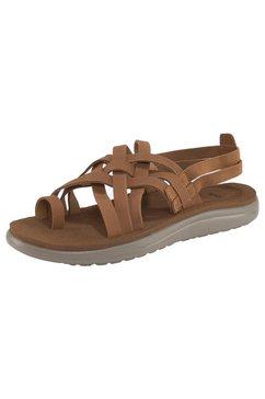 teva sandalen voya strappy leather beige