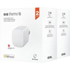 eve »thermo 2020 2-er pack« slimme radiatorthermostaat wit