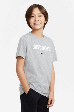 nike t-shirt »nike sportswear big kids' t-shirt« grijs