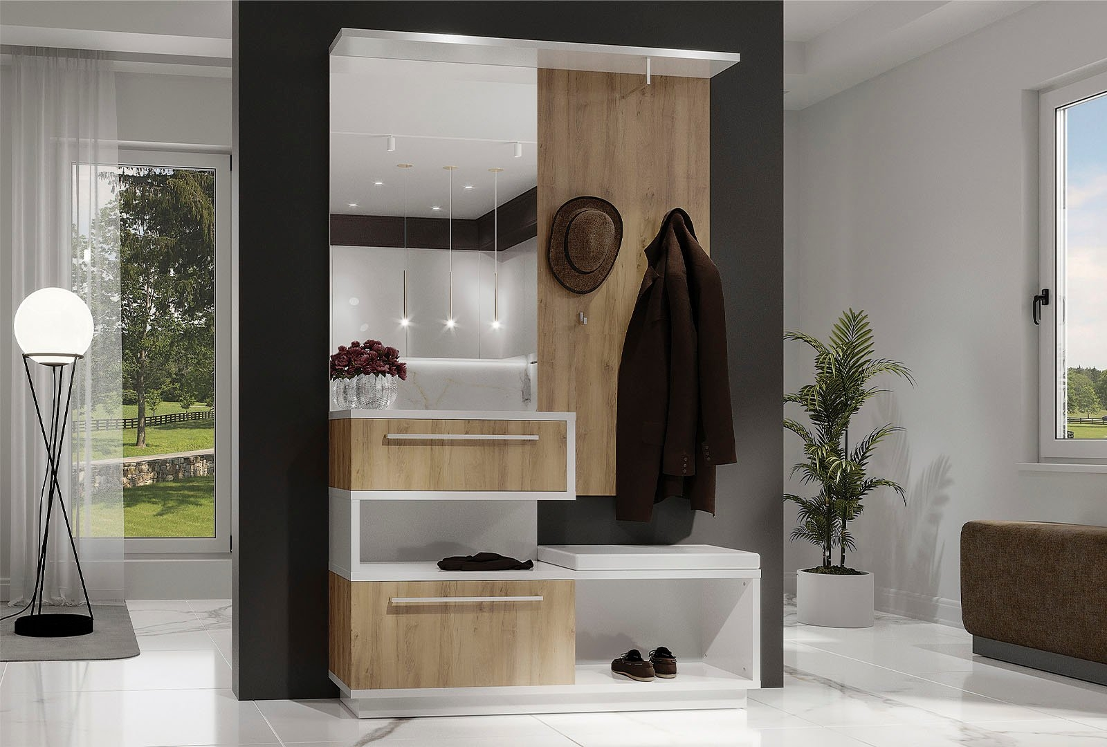 Places of Style compact kapstokmeubel Solo - gratis ruilen op otto.nl