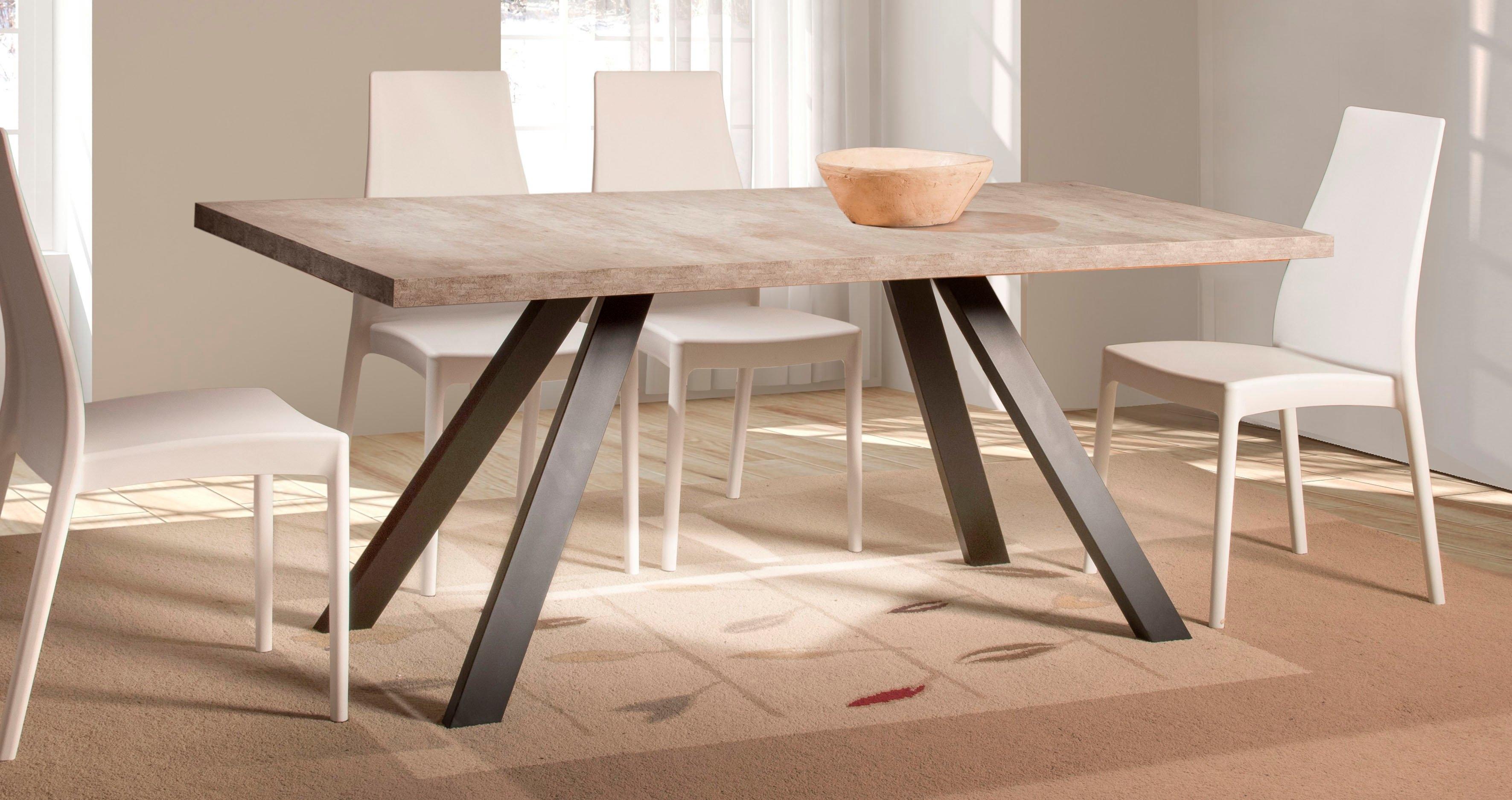 Home affaire eettafel Matera met een 4 cm dik tafelblad, in een prachtig italiaans design, met een metalen frame nu online kopen bij OTTO