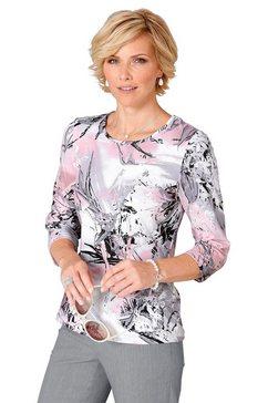 classic shirt met 3-4-mouwen roze