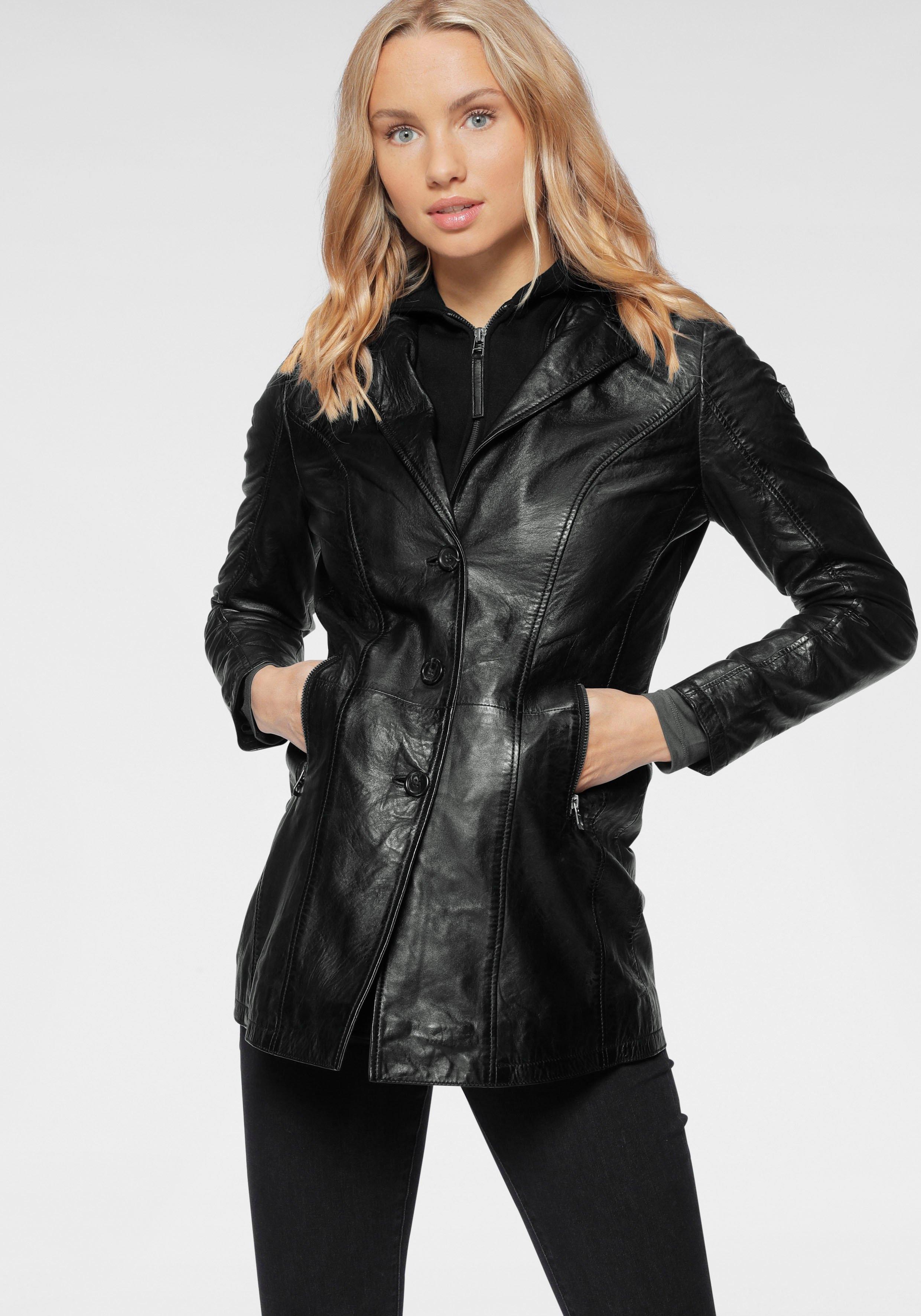 Gipsy leren jack Cleeo stijlvolle hoogwaardige lange blazer in two-in-one-look online kopen op otto.nl