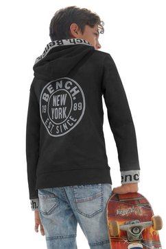 bench. hoodie met reflecterende prints zwart