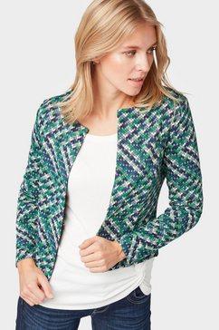 tom tailor cargoblazer »gedessineerde blazer« groen