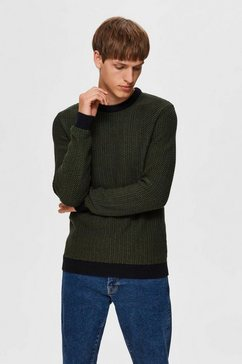 selected homme trui met ronde hals »aiden crew neck« groen