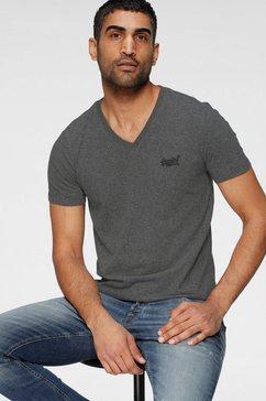 superdry shirt met v-hals ol classic vee tee ns zwart