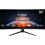 """msi curved-gaming-monitor optix mag342cqrv, 86 cm - 34 """", uwqhd, in hoogte verstelbaar zwart"""