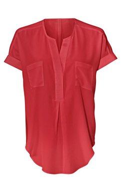 zijden blouse rood