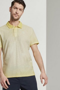 tom tailor poloshirt »meliertes poloshirt im washed-look« geel