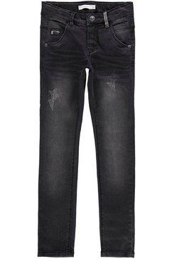 name it skinny fit jeans »nittrap skinny dnm pant« grijs