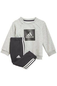 adidas performance joggingpak »3-streifen fleece« grijs
