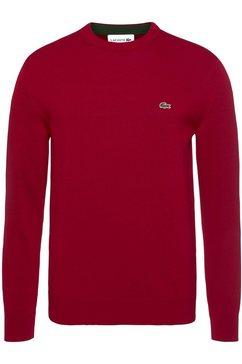 lacoste trui met ronde hals rood