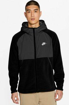 nike fleecejack »men's full-zip hoodie« zwart