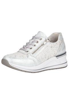 remonte sneakers met sleehak met ritssluiting opzij wit