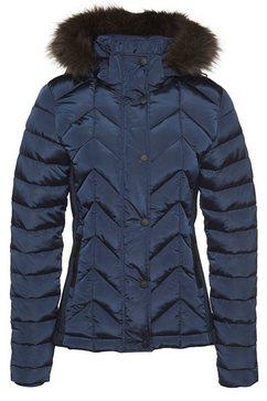 superdry winterjack »luxe fuji padded jacket« blauw