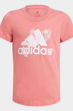 adidas performance t-shirt »tropical sports graphic« roze