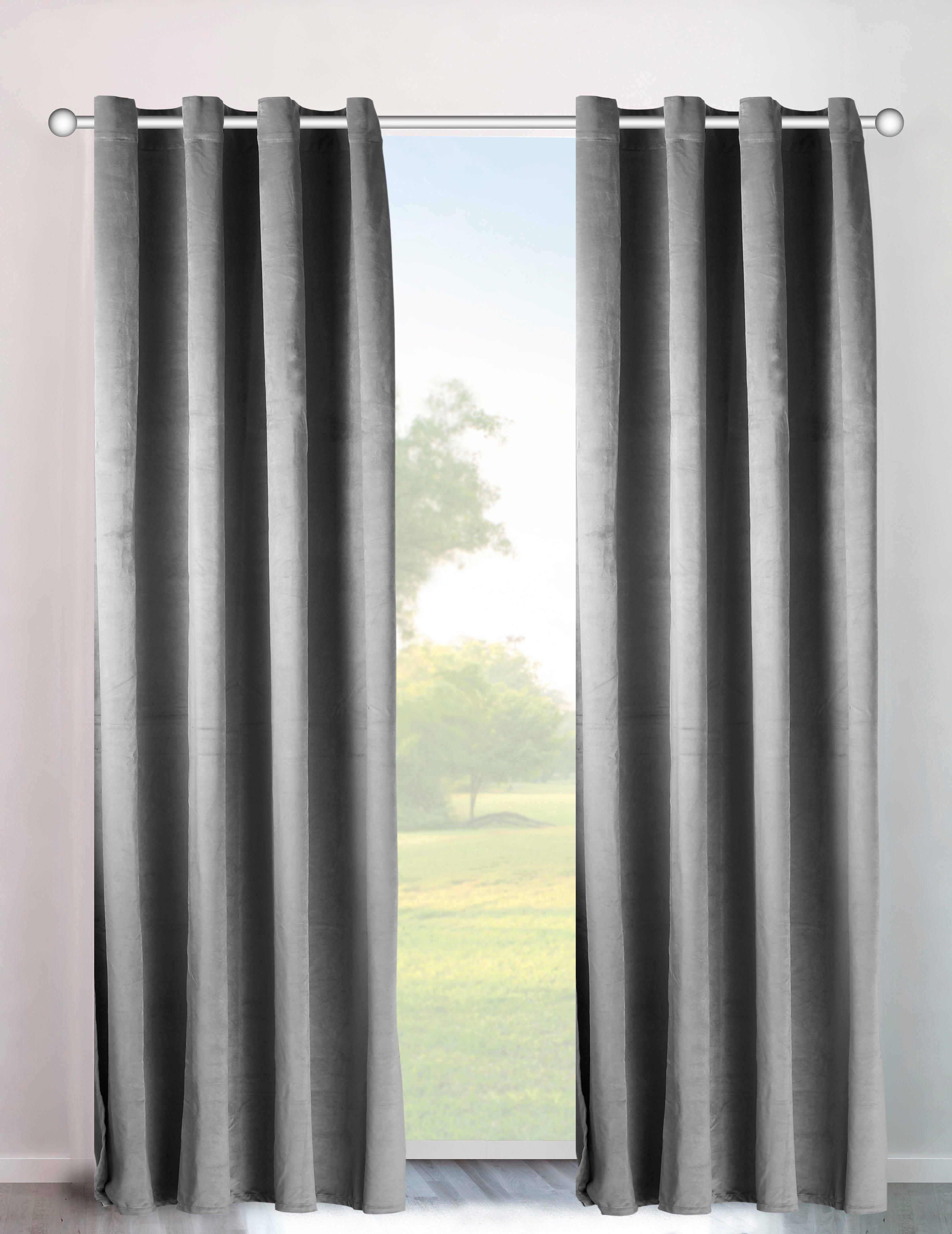 my home Gordijn Velvet uni Fluweel (2 stuks) in de webshop van OTTO kopen
