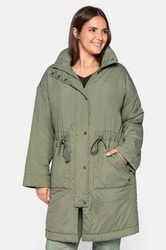 sheego korte jas in oversized model groen