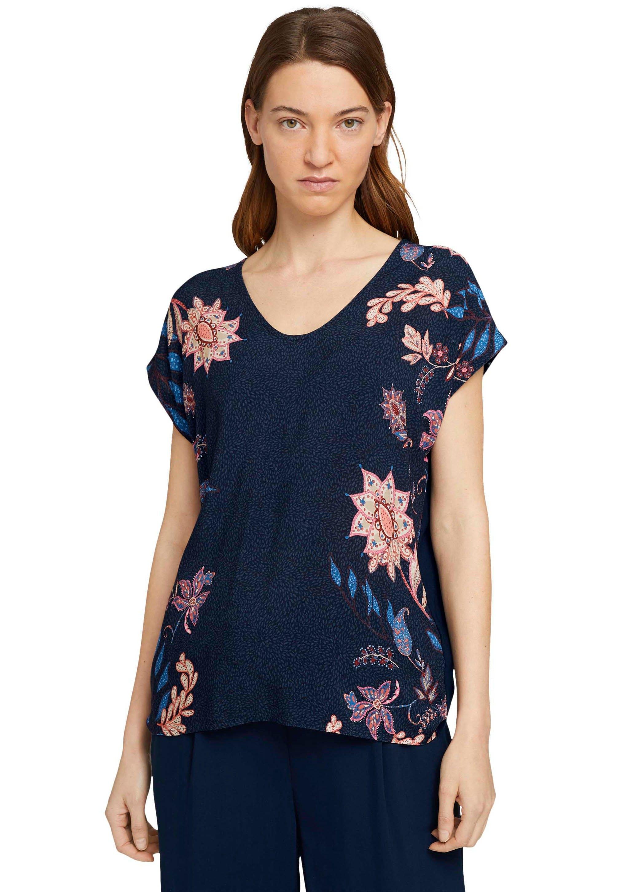 Tom Tailor shirt met print met bloemenprint in de webshop van OTTO kopen