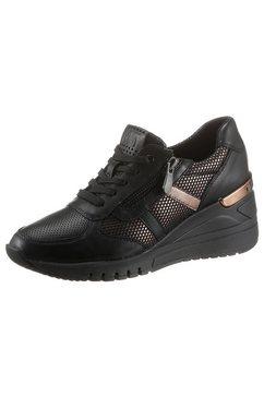 marco tozzi sneakers met sleehak met uitneembaar voetbed zwart